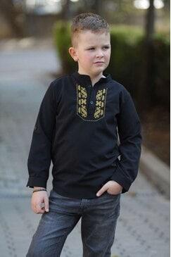 Детска черна риза EMO