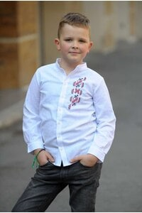 Стилна бяла детска риза TERVEL KIDS