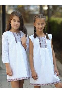 Стилна бяля детска рокля BORIANA KIDS
