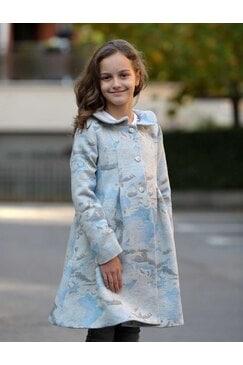 Стилна дизайнерско детско палто MEDEYA KIDS