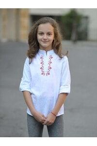 Детска бяла блуза с бродерия RUMENA KIDS