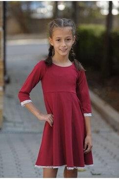 Стилна детска рокля KOKETNA WINE KIDS