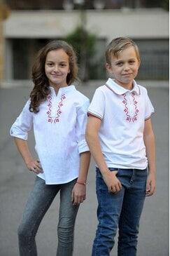 Детска блуза с яка и шевица VERT KIDS