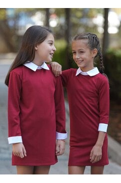 Стилна детска рокля ARTERY WINE LUX KIDS