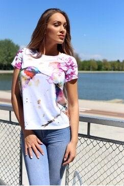 Дамска тениска с принт BIRDS