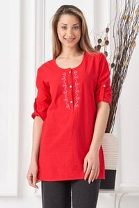 Дамска червена памучна туника RADOMIRA