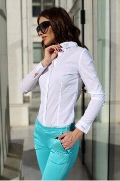 Елегантна дамска риза с камъни STAR