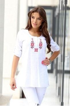 Стилна блуза с бродерия RUMENA