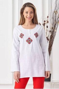 Женска риза със стилизирана шевица MARIYA