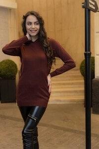 Дамски пуловер с интарзия GREY SNAKE