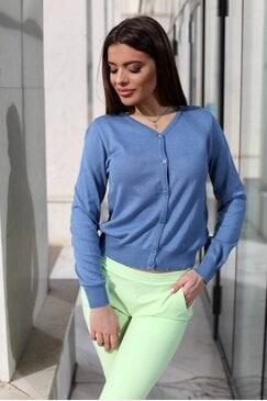 Синя дамска къса жилетка RABANA