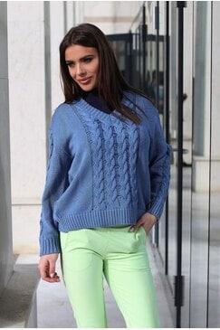 Стилен дамски пуловер плетка PIPI