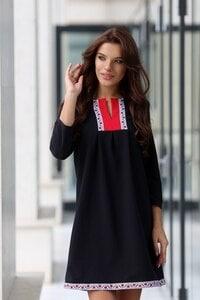 Черна рокля с шевица BORIANA BLACK LUX