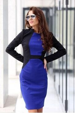 Елегантна рокля сако LOREN BLUE