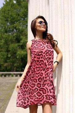 Лятна стилна рокля с принт VIHRA