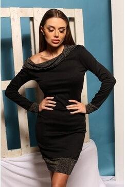 Елегантна черна рокля CAROLYN