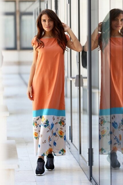 Лятна дълга ефирна рокля DESIMIRA