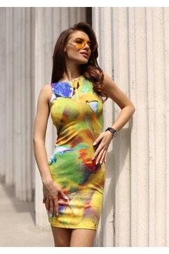 Ежедневна дамска рокля принт FLORAL LUX