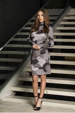 Елегантна рокля с дизайнерски принт KIARA
