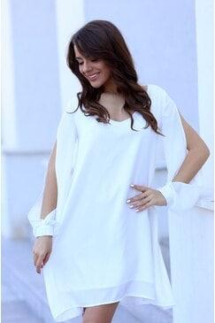 Дамска бяла рокля ANGELIKA