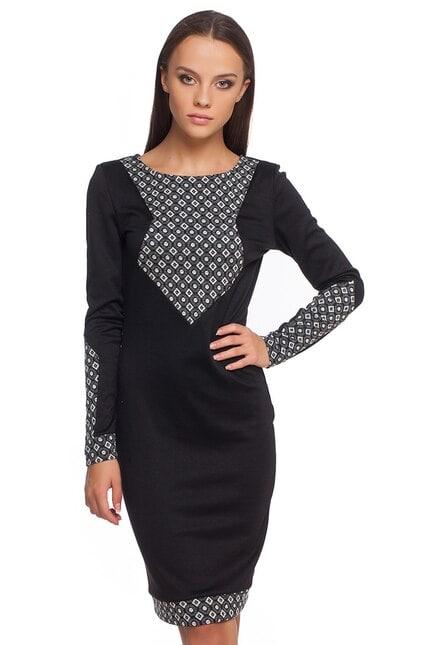 Черна рокля ILLEANA