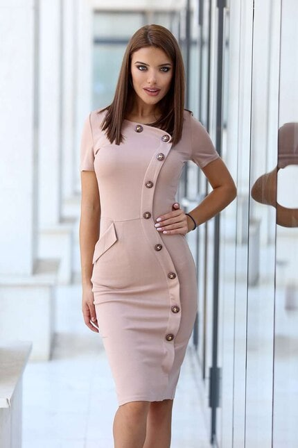 Ежедневна стилна дамска рокля CORALIE