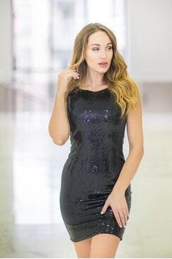 Черна къса официална рокля DREAMDRESS