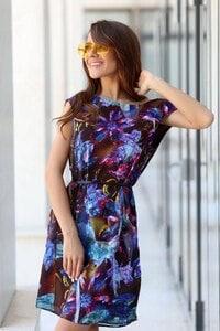 Лятна рокля с дизайнерски принт SANTORINI