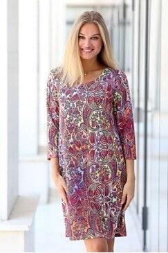 Ежедневна дамска рокля с дълъг ръкав STUDIO