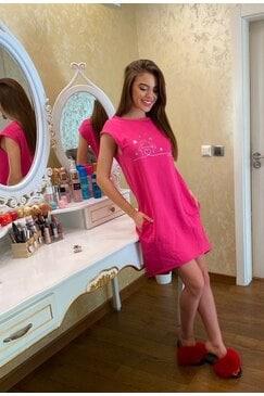 Стилна розова рокля ADEA