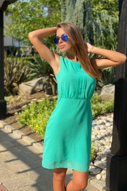 Спортно-елегантна зелена рокля GREEN STYLE