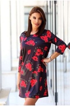 Дизайнерска дамска рокля с дълъг ръкав ALEN MAK