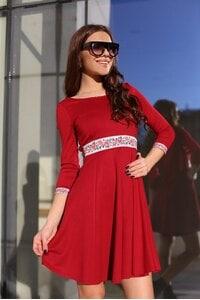 Елегантна червена дамска рокля KOKETNA RED LUX