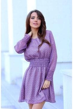 Стилна лятна рокля VIOLET DREAM