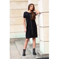 Дамска черна рокля ZOYA