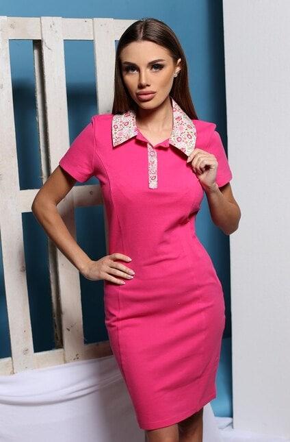 Стилна розова рокля ALENA PINK