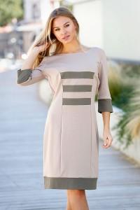 Стилна дамска ежедневна рокля BELLA DRESS KHAKI