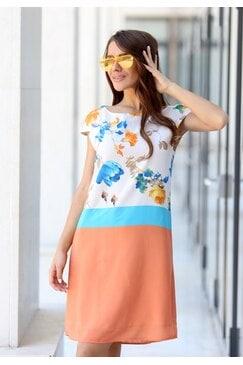 Лятна рокля с дизайнерски принт DJULI