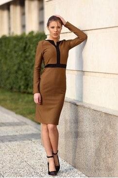 Стилна кафява рокля LEDA