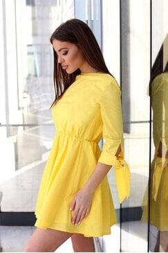 Елегантна жълта дамска рокля FASHION YELLOW