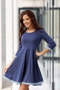 Елегантна рокля KOKETNA NAVY