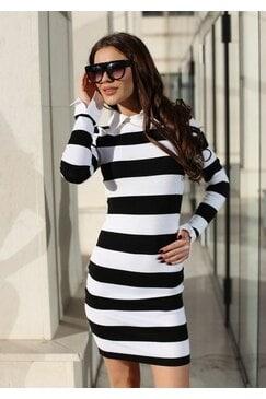 Стилна рокля тънко плетиво ELEMENT