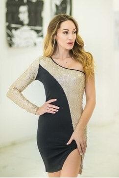 Коктейлна дамска рокля STARWISH