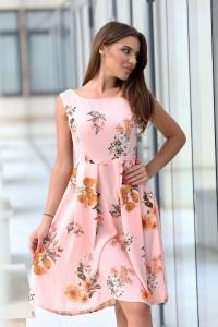 Разкроена рокля на цветя ANAIS