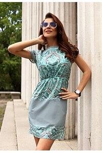 Стилна дамска рокля с дизайнерски принт FLORALDREAM