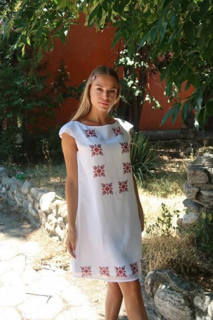 Лятна рокля с шевици MARIYA