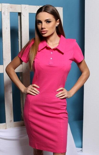 Ежедневна розова рокля IVANA PINK