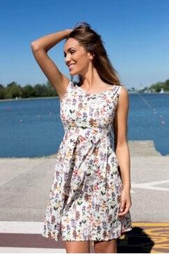 Разкроена ежедневна лятна рокля CLEMANS