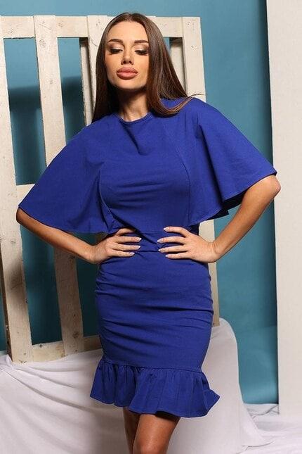 Елегантна синя рокля MIRELLA