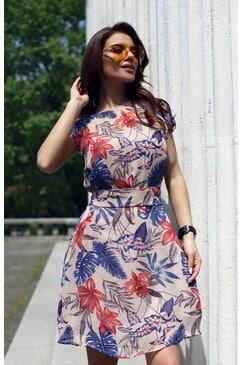 Стилна дамска лятна рокля ELVIRA VIOLET